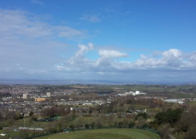 looking over morecambe bay to the lake district